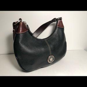 Dooney & Bourke Black/Brown Pebble Leather